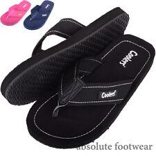 Ladies / Womens Summer / Holiday / Beach Canvas Sandals / Flip Flops / Shoes