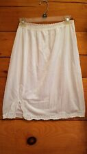 Ladies Nylon Half Slip with Beautiful Lace Trim & Lace Trim Waist
