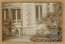 Cpa Carte Photo RPPC terrasse de jardin mobilier maison bourgeoise bt130