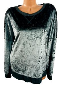 Secret treasure gray velour spandex stretch long sleeve sleepwear sweater 3X