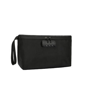 Smell Proof Lockable stash bag - carbon lined with combination lock