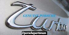 "Porsche 911 Turbo Emblem ""turbo"" (silver) For Decklid    GENUINE  NEW#NS"
