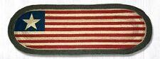 Primitive Country Rustic Lodge 100% Natural Patriotic Original Flag Table Runner