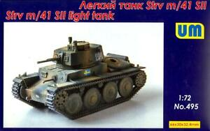 UM-MT Models 1/72 STRV M/41 SII Swedish WWII Light Tank