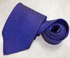 Hugo Boss Men's Metallic Purple 100% Silk Neck Tie Made In Italy