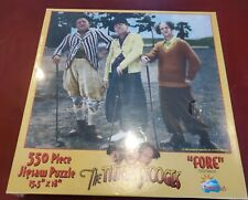 "Vintage The Three Stooges Golf ""FORE"" 550 Pc  Jigsaw Puzzle, NEW Sealed NOS"
