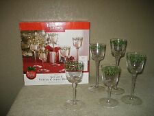 Set of 5 Glass 2009 Votive Candle Holders Better Homes & Christmas Holly Berry