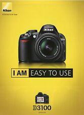 2002NIK Nikon D3100 2010 8/10 Prospekt Kamera brochure Spiegelreflexkamera