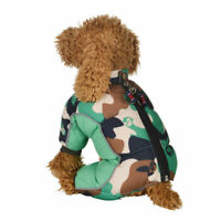 Winter Pet Dog Warm Waterproof Coat Padded Camo Jacket Jumpsuit Outdoor Clothes