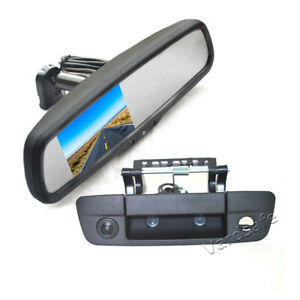 Tailgate Rear View Backup Camera & Mirror Monitor for Dodge Ram 1500 2500 3500