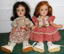 "Pair (2) of Ideal 14"" P-90 Toni Dolls"