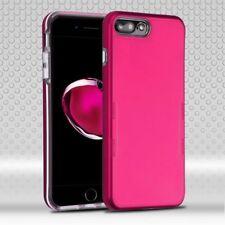IPHONE 7 plus 8 plus HOT PINK dual layer HYBRID TPU case USA SELLER