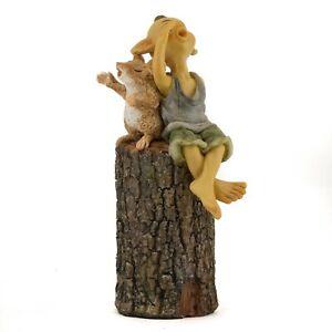 Pixie Singing on Tree Stump TO 4898 Miniature Fairy Garden