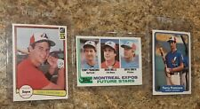 (3) Terry Francona 1982 Topps Fleer Donruss Rookie Card Lot Red Sox Expos RC
