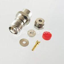 TNC Female Connector Clamp Attachment Coax RG174, RG188, RG316, Nickel Plating