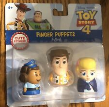 Disney Toy Story 4 Finger Puppet 3 Pack Woody Bo Peep Giggles McDimples
