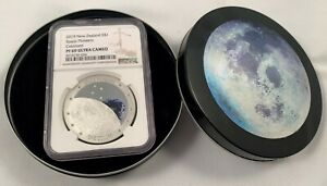 2019 New Zealand $1 Space Pioneers 1 oz .999 Silver Proof Coin - NGC PF 69 UCAM