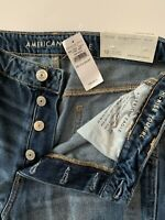 AMERICAN EAGLE Jeans Hi-Rise Tomgirl 10 X-SHORT  Button Fly BRAND NEW With Tags
