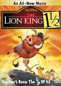 Like New DVD The Lion King 1 1/2 (2004) DISNEY CLASSIC Jerry Stiller Matthew Bro