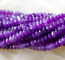 2x4mm Faceted  Russican Amethyst Gemstone Abacus Loose Beads 15'' AAA