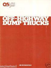 Truck Brochure - Komatsu - HD320 460 680 - Off-Highway Dump Mining Haul (TB606)
