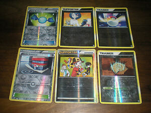 LOT DE 6 CARTES POKEMON DRESSEUR SUPPORTER HOLO RARES