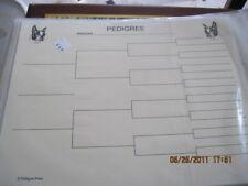 Boston Terrier Blank Pedigree Sheets Pack 10