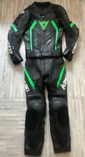 Dainese Green MOTORBIKE MOTOGP RACING COWHIDE LEATHER 1/2 PC BIKERS SPORTS SUIT