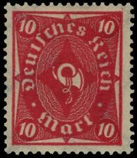 GERMANY 181a - Numeral and Post Horn 'Pink Background Omitted Error' (pb19537)