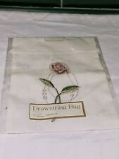 Drawstring Bag With Embroidery flower