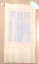 Coastal Lighthouse Sailboats Lighted White Lace Window Curtain 2 Panels NEW 84L