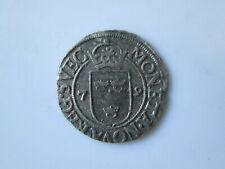 Sweden medieval  silver coin, Johann III 1/2 öre 1579, Stockholm