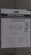 Jvc rx-204 l bk 205 tn ltn service manual original repair book stereo receiver