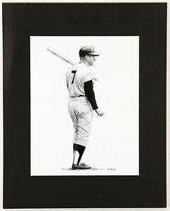 Circa 1970's Landsman Sports Deck Mickey Mantle Lithograph Used for Mantles Card