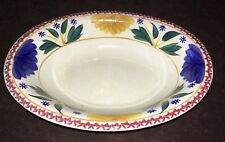 PETRUS REGOUT-MAASTRICHT (c.1900) SPONGEWARE- VEGETABLE/ SIDE DISH BOWL RARE!