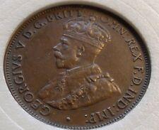 XF 1931 Australia Half Penny, 6 Pearls and Full FCD. Nice Tone w Locking Holder.