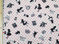 LECIEN Girl`s Story Alice In Wonder Land  Natural 108 x 50 cm - Japanese Fabric