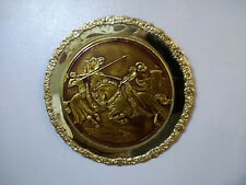 Old Metal Medieval Knight Wall Hanging Plate Wall Decor