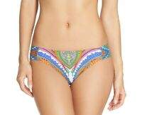 Trina Turk 145746 Womens Side Shirred Bikini Bottom Swimwear Multi Size 6