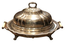 More details for victorian silver plate meat dome on stand. huge in size.