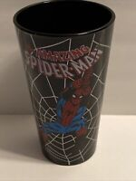 The Amazing Spiderman Black Pint Glass Spider-Man In Web Glass