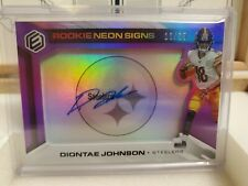 2019 panini elements football Diontae johnson neon signs purple