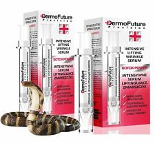 2x DermoFuture SCHLANGENGIFT SERUM Botoxeffekt Antifalten Anti Aging FALTEN HEBE