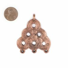 Copper Baule Beehive Connector Pendant 54x47mm Ivory Coast African Large Hole