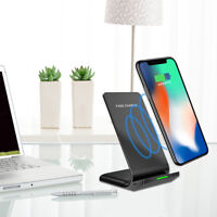 Wireless QI Fast Charger Charging Stand Holder For iPhone X iPhone 8/8 Plus KK