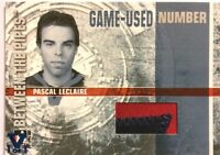 2006-07 Between The Pipes Game-Used Number Pascal Leclaire Vault Blue 1/1
