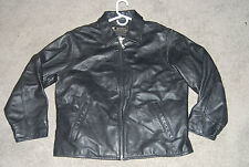 EDDIE BAUER Stine Women's Black Leather BIKER Moto Jacket Coat SIZE LARGE