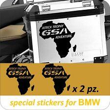 2 Adesivi Stickers AFRICA Trophy GSA Moto BMW R 1200 1150 1100 800 gs valigie