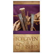 3 x 6' Banner: Forgiven - It is Finished - Free Shipping