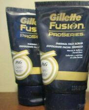 2x GILLETTE FUSION PROSERIES THERMAL FACE SCRUB  3.3 oz each